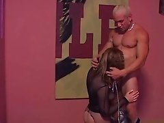 Leashed Hottie Begs For Cock In Mouth