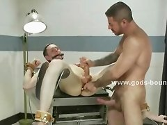 Doctor consultation ends bad for gay patient after he wakes up packed and tied defenselles in front of the pervert doctor in bdsm rough sex video show