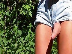 in Hotpants abgespritzt cumshot in hotpants