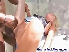 INTERRACIAL GRANNY ACTION!