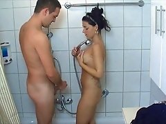 Hot College Girl Gets Fucked In The Shower