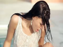 Incredible pool wow sex with hot woman