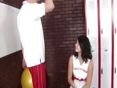 22yo cheerleader fucks with her coach