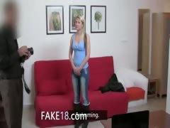 Teenage teenager fucking with fake agent