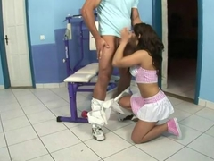 Scorching Redheaded Screwed From Behind And Got Facial