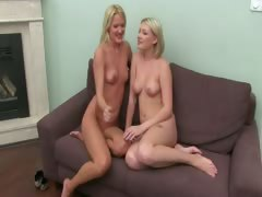 Fake agent sexing with two blonde girls