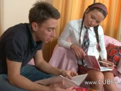 Hot lesson of sweet russian teen