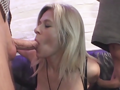 Blonde German Huge-Boobs-Granny in Anal-Threesome