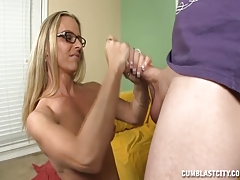 Topless Lady Asks For A Cumshot