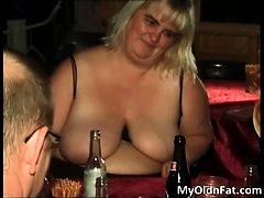 Slutty horny blonde fat whore