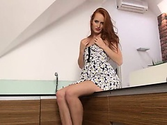 Pissing redhead undress snatch