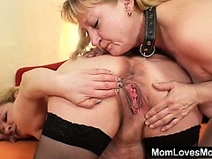 Amateur wives fucking each other with a rubber cock