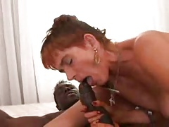 Hairy Granny Interracial Anal