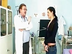 Sandra visits gyno Doctor for muff speculum investigation at Kinky clinic