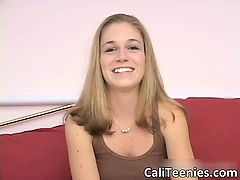 Great sexy body cute blonde teen slut