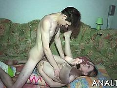 Tenacious anal hammering