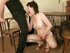 Hot granny enjoys nasty sex
