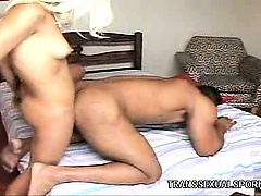 Blonde Tranny Rides Dong
