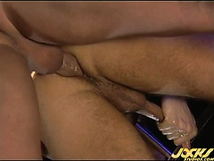 Erik takes Hunter to the backroom of a sex club for an orgy!