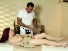 Hairy Jessica Ryan at a trick massage