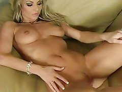 Busty blonde babe Vanessa Cooper hot solo masturbation