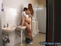 Ai Sayama Asian chick likes public part3