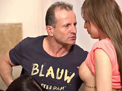 daddy4k. eveline and silvia dellai want to taste boner