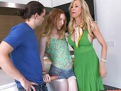 Brandi Love and Katy Kiss hot threesome