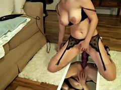 hot busty brunette ride anal dildo!  watch part 2 on becamz.com