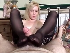 Non Professional Blonde Sucks Thick Twitching Dick