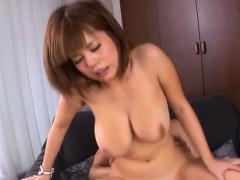 Engaging Airu Oshima with massive tits getting nailed
