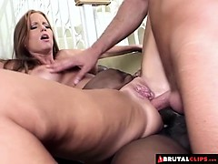 BrutalClips  Stretching her pussy to its absolute limit