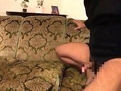 Striking Oriental girl in lingerie indulges in hardcore sex