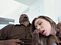 black monster dick delivery guy stuffs cutie