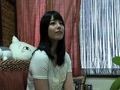 Nasty Japanese babe gets her mouth filled with fresh cum