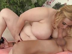 Pretty blonde BBW Nikki Wilder gets fucked hard