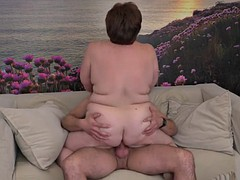 chubby mature aunty suck and fuck young cock