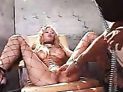 Lusty ladies in dungeon make kinky porn