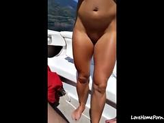 hot milf fucked on a boat