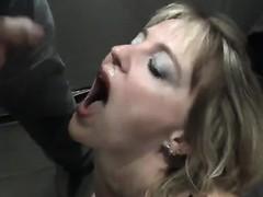 Cuck bukkake cum swallow