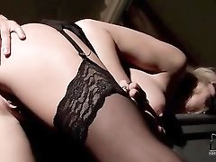 Gagged mouth girl ass fucked from behind