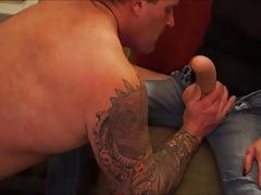 sucking her big cock