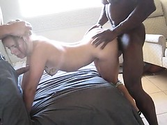 Amber Empty interracial cuckold having a facial