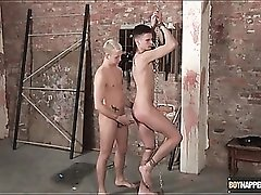 Twink tied and fucked in the ass doggystyle
