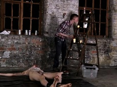 Men sex donkey gay porn photo Chained to the warehouse floor