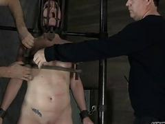 Beauty receives torment for her shaved fur pie