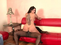 Bodacious brunette wife engages in hot cuckold action with a black guy