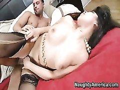 Busty Brunette Pussy Fucked