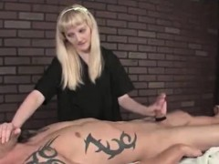 Masseuse Gives Punishment Wank