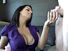 chastity femdom boss restrains male employee